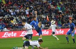 Футбольный матч между Италией и EIRE Under-21 Стоковое Изображение RF
