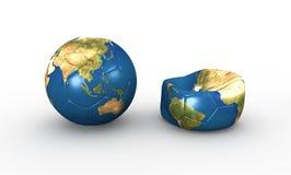 Футбольный мяч земли Стоковая Фотография