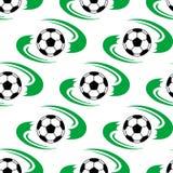 Футбольный мяч или картина футбола безшовная Стоковое фото RF