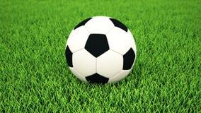 Футбольный мяч на траве, DOF сток-видео
