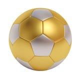 Футбольный мяч от различных металлов изолированных на белой предпосылке Стоковые Фото