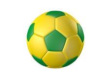 Футбольный мяч цвета Стоковое Изображение