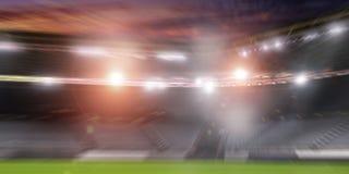 Футбольный стадион в светах Стоковая Фотография RF