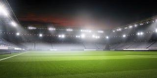 Футбольный стадион в светах Стоковое Фото