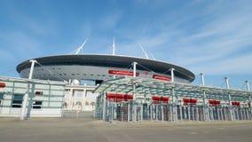 Футбольный стадион на кубок мира 2018 в Санкт-Петербурге Стоковые Изображения RF