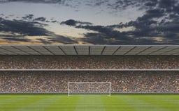 Футбольный стадион произведенный компьютером Стоковое Фото