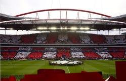 Футбольный стадион Benfica, игра футбола лиги чемпионов Стоковое Изображение