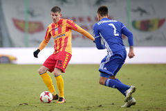 Футбол: Korona Kielce - Wisla Plock Стоковые Изображения RF