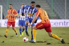 Футбол: Korona Kielce - Wisla Plock стоковое фото