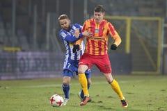 Футбол: Korona Kielce - Wisla Plock Стоковое Изображение