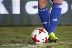 Футбол: Korona Kielce - Wisla Plock Стоковые Изображения