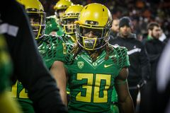 Футбол NCAA - Орегон на положении Орегона Стоковые Изображения