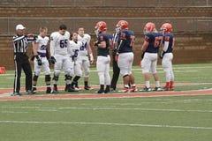 Футбол NCAA DIV III коллежа Стоковое Фото
