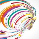 Футуристическая абстрактная иллюстрация формы Стоковые Фото