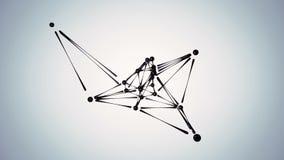 Футуристическая анимация концепции sc-fi конспекта формы 3D представляют анимацию петли иллюстрация вектора