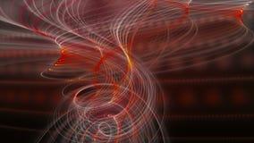 Футуристическая анимация с накаляя объектом нашивки частицы в замедленном движении, 4096x2304 петле 4K