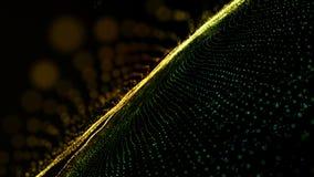 Футуристическая анимация с накаляя объектом частицы в замедленном движении, 4096x2304 петле 4K