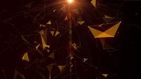 Футуристическая анимация с накаляя треугольниками в замедленном движении, 4096x2304 петле 4K