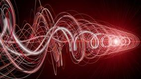 Футуристическая анимация с объектом нашивки и моргать свет в замедленном движении, 4096x2304 петле 4K