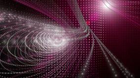 Футуристическая анимация с объектом нашивки частицы и свет в замедленном движении, 4096x2304 петле 4K