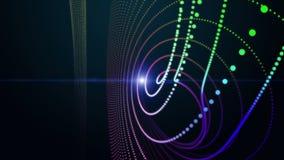 Футуристическая анимация с объектом частицы и светом, петлей HD 1080p