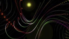 Футуристическая анимация с объектом частицы и свет в движении, петле HD 1080p иллюстрация штока