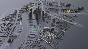 футуристическая архитектура города 3D акции видеоматериалы