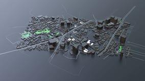 футуристическая архитектура города 3D видеоматериал