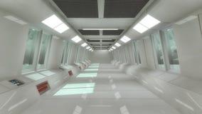 Футуристическая архитектура залы Стоковое фото RF