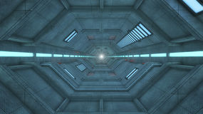 Футуристическая архитектура залы Стоковая Фотография RF