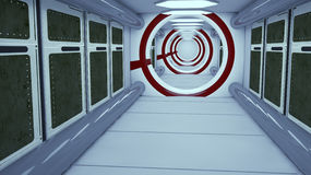 Футуристическая архитектура залы Стоковое Фото
