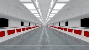 Футуристическая архитектура интерьера технологии Стоковое Изображение