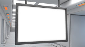 Футуристическая архитектура интерьера технологии Стоковое фото RF