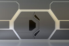 Футуристическая дверь Стоковая Фотография