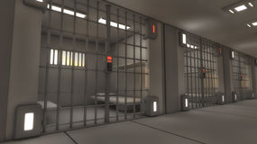 Футуристическая внутренняя тюрьма Стоковые Фотографии RF