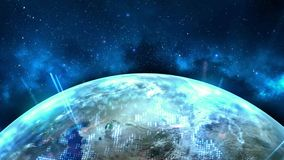 Футуристическая глобальная предпосылка технологии бесплатная иллюстрация