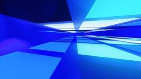 Футуристическая голубая абстрактная светлая предпосылка Стоковые Изображения