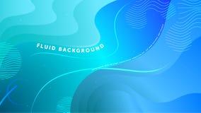 Футуристическая жидкая абстрактная предпосылка Жидкостный осветите - формы голубого градиента геометрические r бесплатная иллюстрация