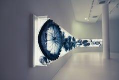 Футуристическая комната и света Стоковая Фотография