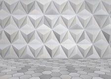 Футуристическая комната металла Стоковая Фотография RF
