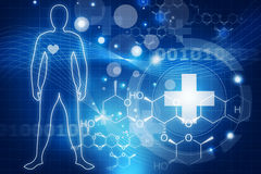 Футуристическая медицинская концепция бесплатная иллюстрация