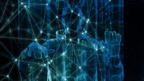 Футуристическая ошибка компьютера алгоритма бинарного кода фона концепции технологии бесплатная иллюстрация