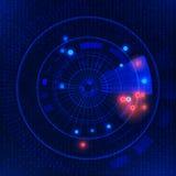 Футуристическая предпосылка вектора технологии HUD Стоковое фото RF