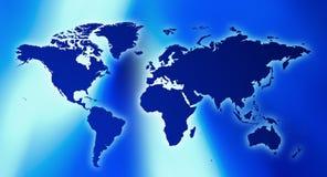 Футуристическая предпосылка названия карты мира Стоковая Фотография RF