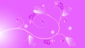Футуристическая предпосылка с цветками Стоковое Фото