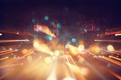 Футуристическая ретро предпосылка стиля 80 ` s ретро Поверхность цифров или кибер неоновые света и геометрическая картина стоковые фото