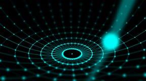 Футуристическая сеть мира соединения сферы кибер технологии, компьютер, кабели волокна виртуальные оптические, соединение волокна Стоковое Фото