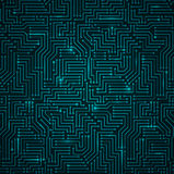 Футуристическая сияющая синяя технология Backgorund иллюстрация вектора