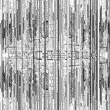 Футуристическая структура города мегаполиса Стоковая Фотография