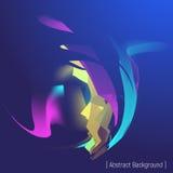 Футуристическая форма с светом Стоковые Изображения RF